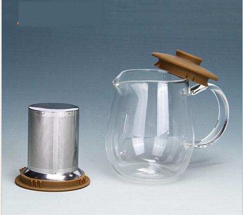 600ml Juice Pot Hand Blown Tea Pot with Filter
