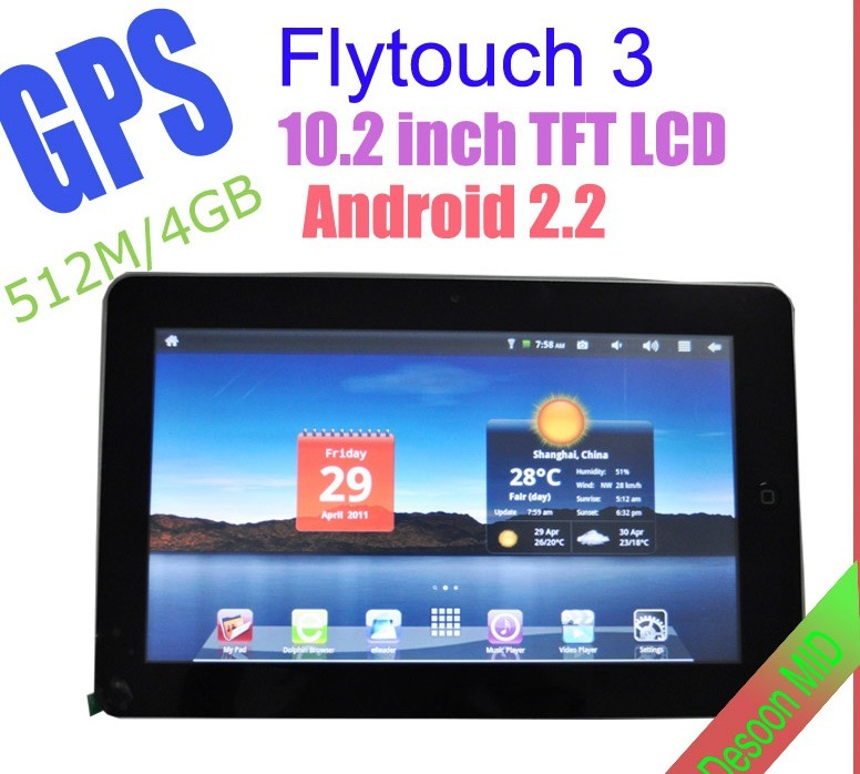 search buy tablet pc mid flytouch2 1ghz 10 inch android 2 1 gps wifi must novice