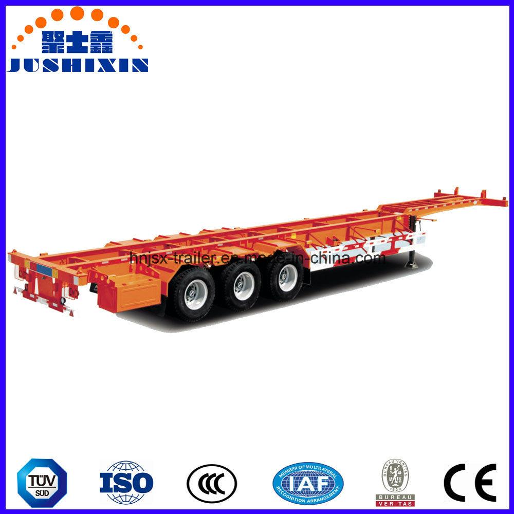 Factory Price Tri-Axle 60 Ton 40FT Skeleton Container Semi-Trailer