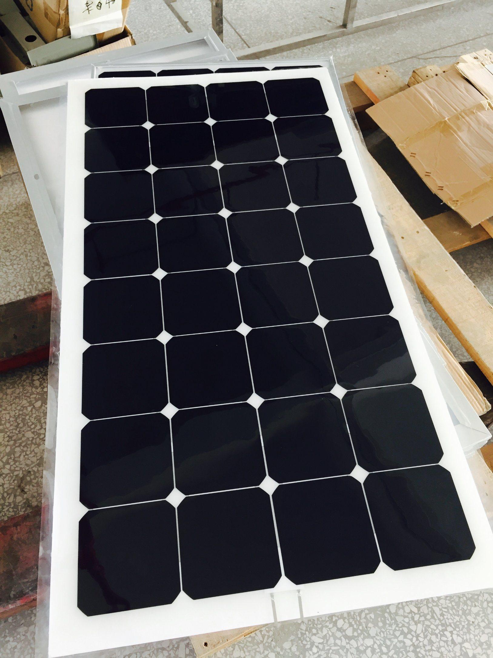 2017 Hot Selling Good Quality RV Marine 100W Flexible Solar Panel