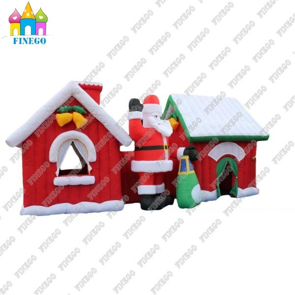 Merry Christmas Commercial Inflatable Bouncer with Factory Lower Price