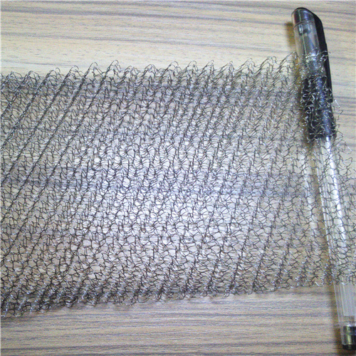 Corrugated/Crimped Knitted Wire Mesh with 0.20-0.28 mm Wire Diameter