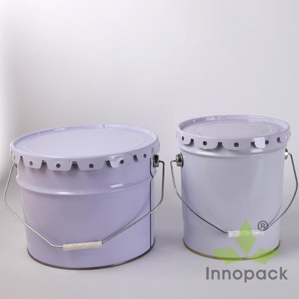 5 Gallon Round Paint Metal Tin Bucket