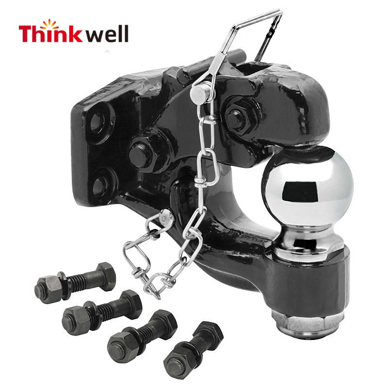 Drop Forged Trailer Hitch Towing Pintle Hook with Ball