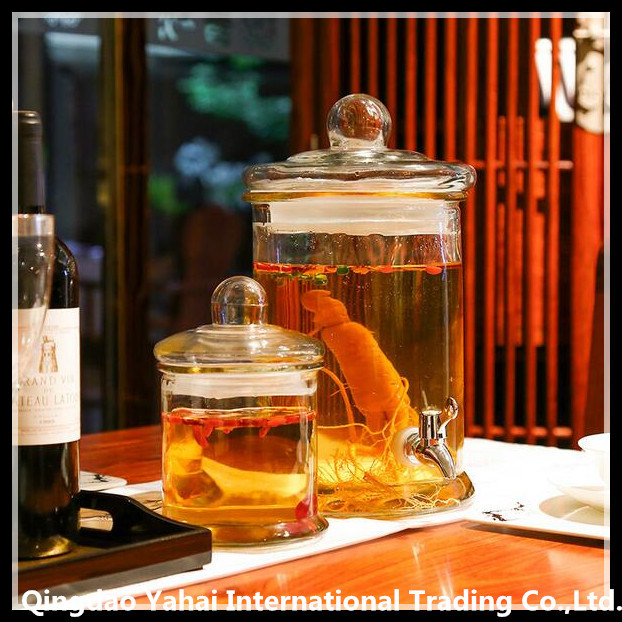 Cylinder Clear Glass Gallon Jar