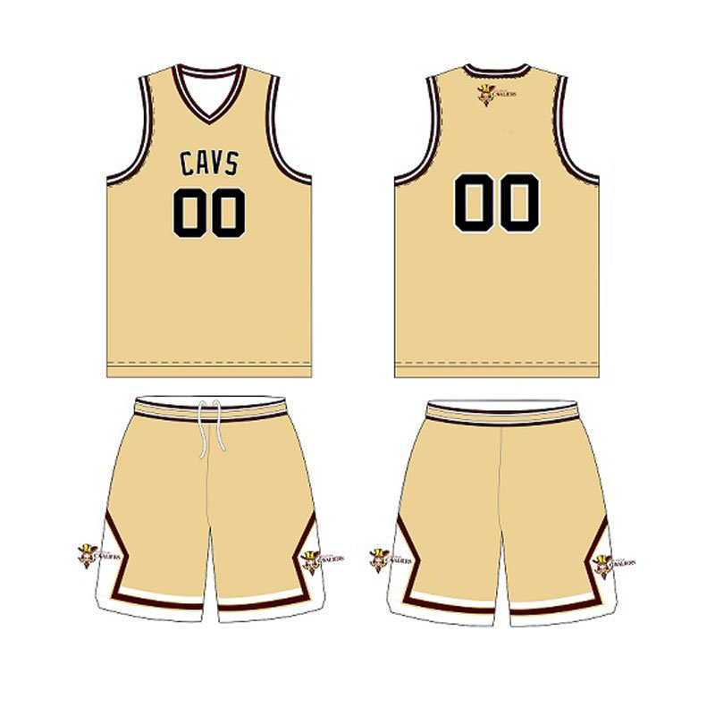 Cool-Dry Sublimation Basketball Jersey for Cavs (DPBJ-0015)