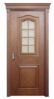 Exterior /Interior Door Wooden Door Double Sashed Door Designs with Nature Veneer Safety Door for Villa