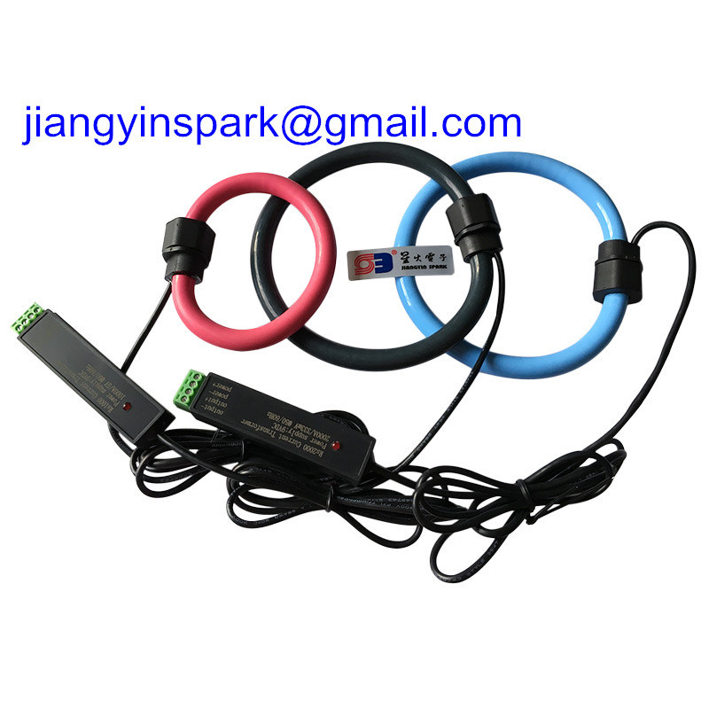 0-0.333V AC or 0-5V AC Flexible Rogowski Coil Split-Core Current Transformer Flexible Probe Cts