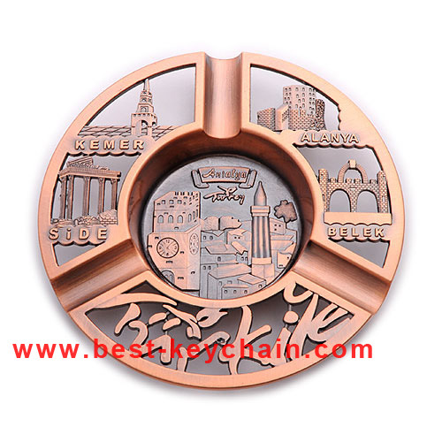 Emboss Logo Metal Souvenir Plate Custom Promotion Ashtray (BK53346)