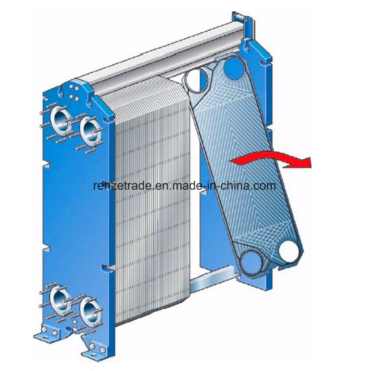 General Heating and Cooling Alfa Laval Replacement Gasketed Plate Heat Exchanger