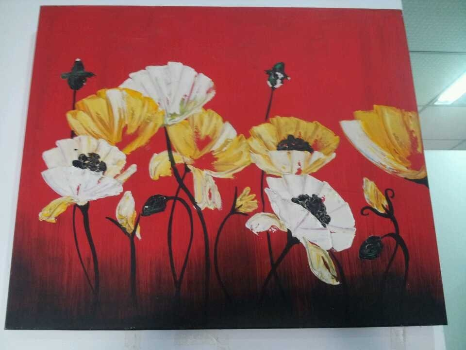 Flower Oil Painting /Oil Painting Crafts/Hand Painting/ Canvas Painting