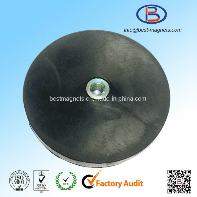 Direct Factory Original Supplier of Much Thicker Rubber Coating Disc 88mm Magnet Pot/Gripper