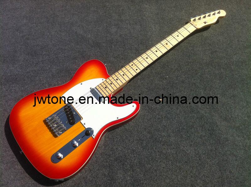Cherry Burst Color Tele Electric Guitar