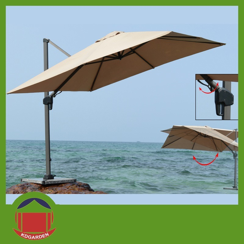 Fancy Rotating Roman Garden Umbrella, Parasol