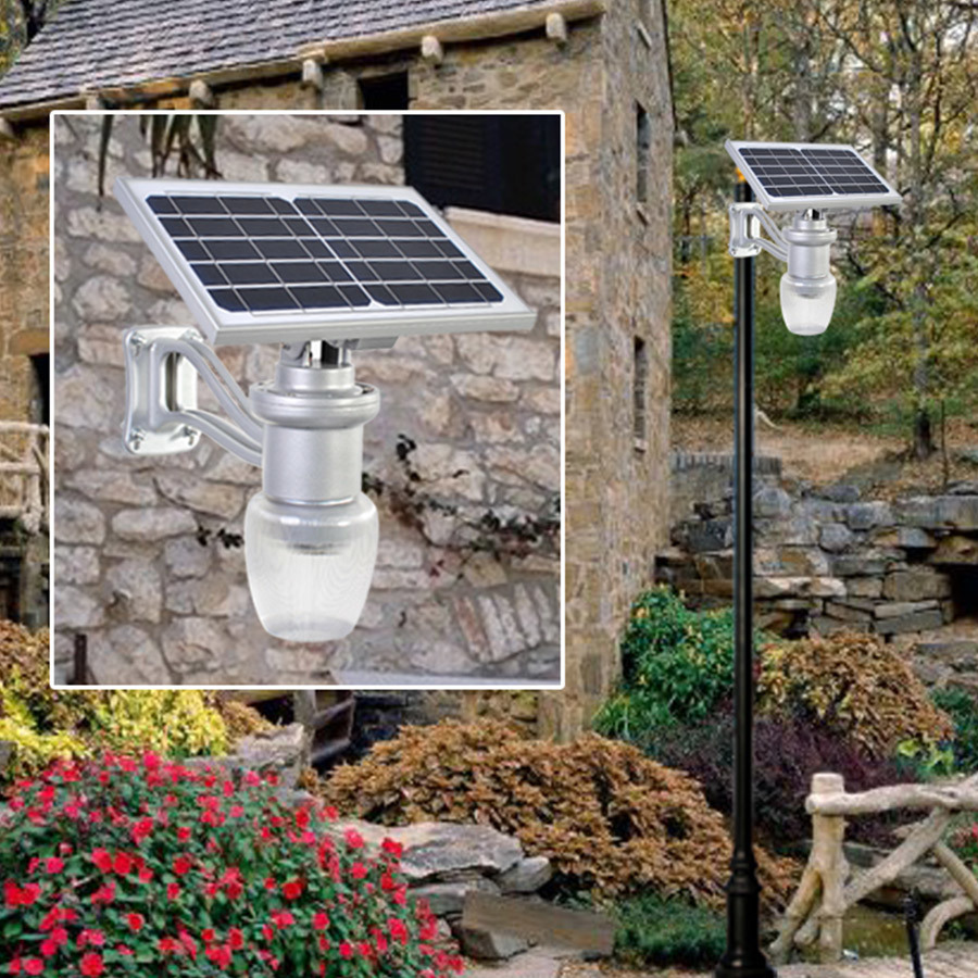 Solar Powered 6W 9W Outdoor LED Garden Light