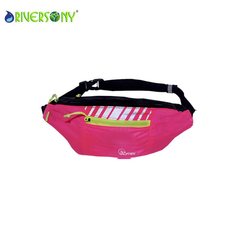 Polyester Pink Small Waist Bag
