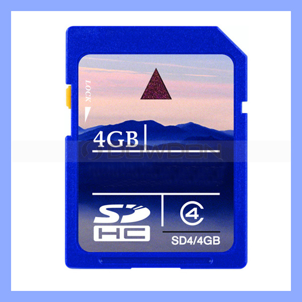 Data Storage Write and Reader 20m/S Limit Speed 4GB SD Memory Card