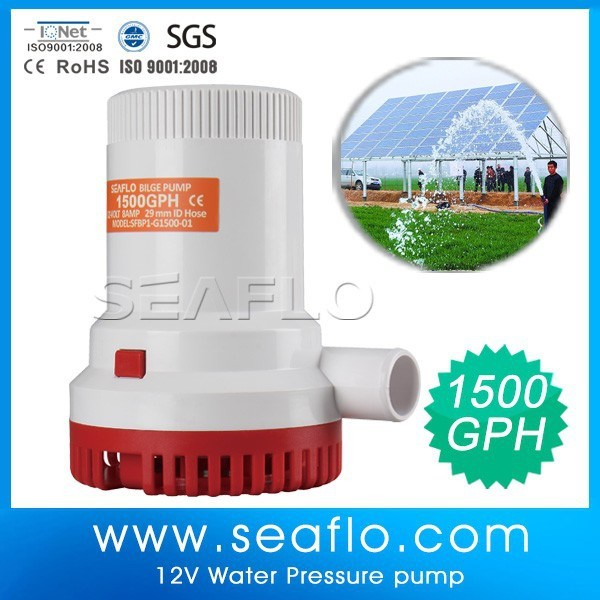 Agriculture System 1500gph 12V Pool Pond Solar Electric Submersible Pump