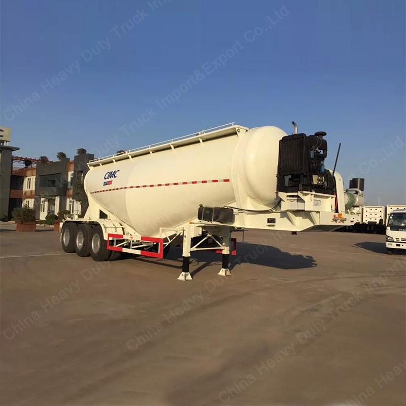 60m3 V Shape Cement Bulker/Bulk Cement Tanker Semi-Trailer