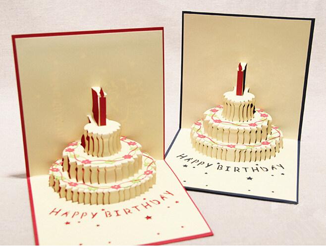 Three-Dimensional Printing Birthday Greeting Cards