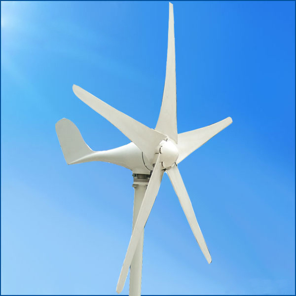 Mini Horizontal Axis 100W Wind Generator Turbine for Streetlight Use