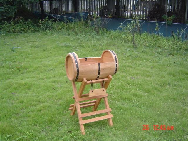 Unique Design Wooden Flower Drum Barrel with Support