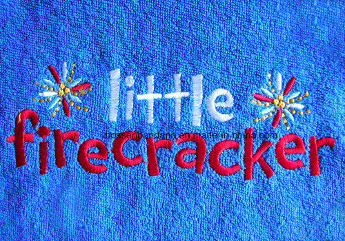 Custom Made Logo Words Embroidered Cotton Terry Cloth Promotional Baby Bibs