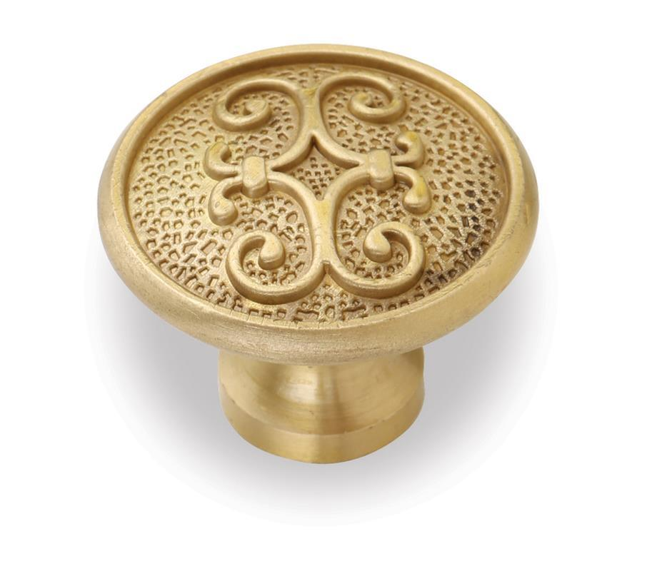 Copper Material Cabinet Handles Furniture Handles Copper Brass Knobs with Gold Plated