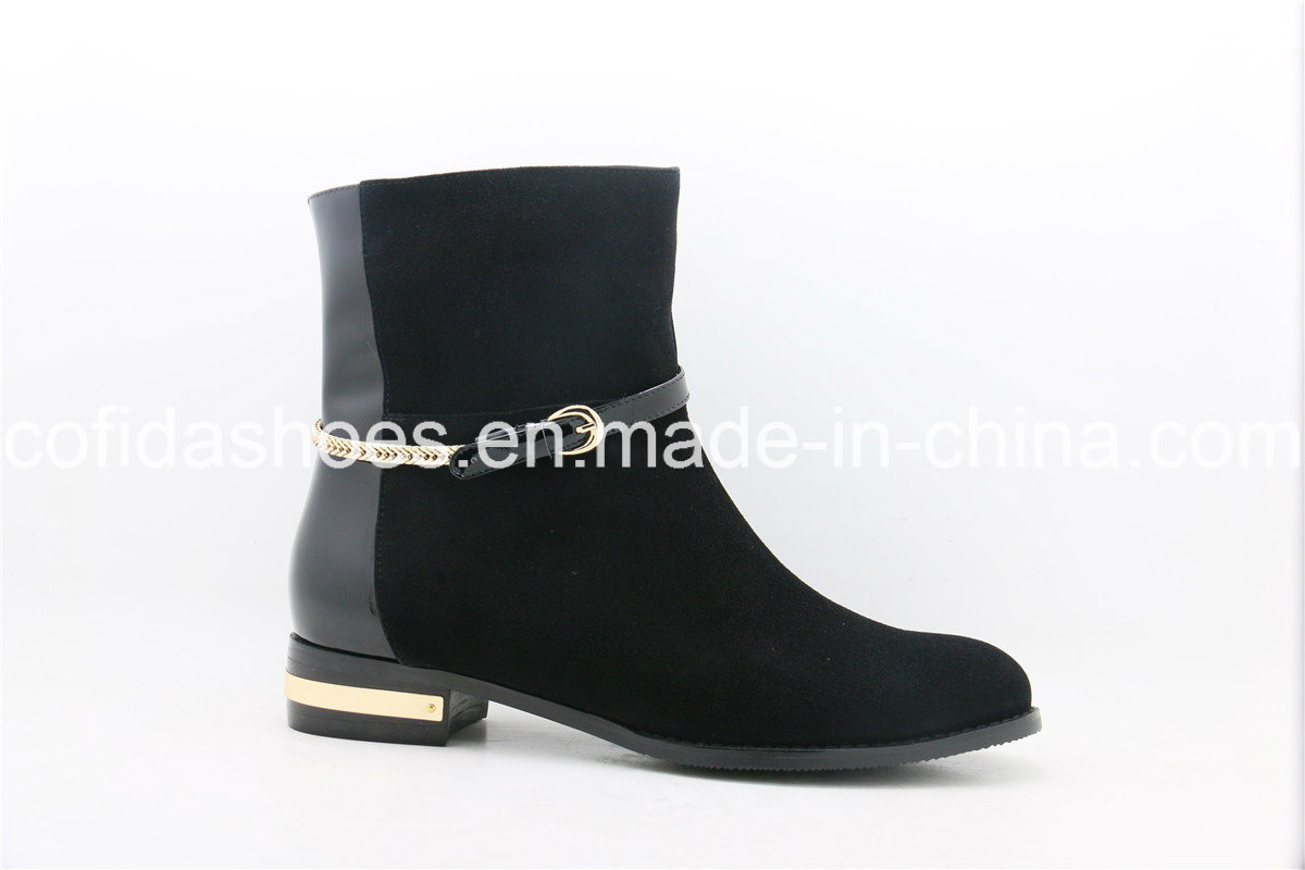 Hot-Sale Comfortable Fashion Flat Lady Ankle Boot