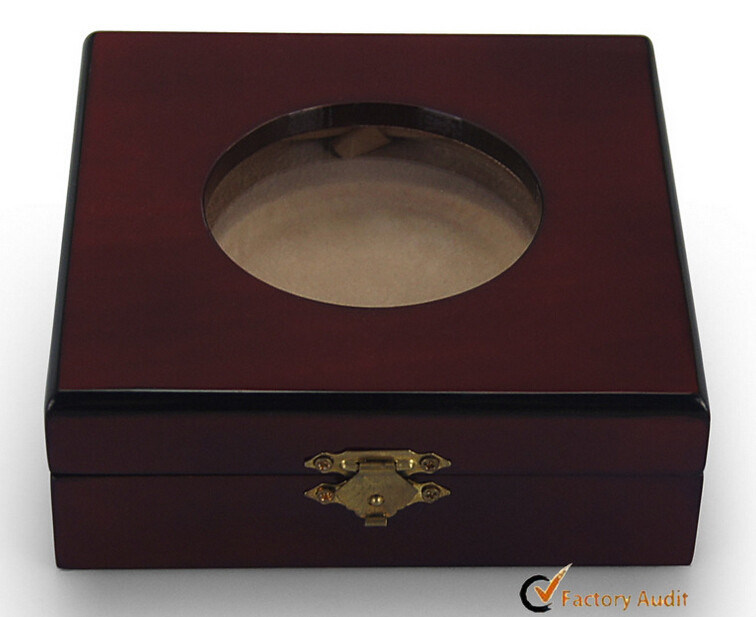 Collection Coin Display Box with Round Window