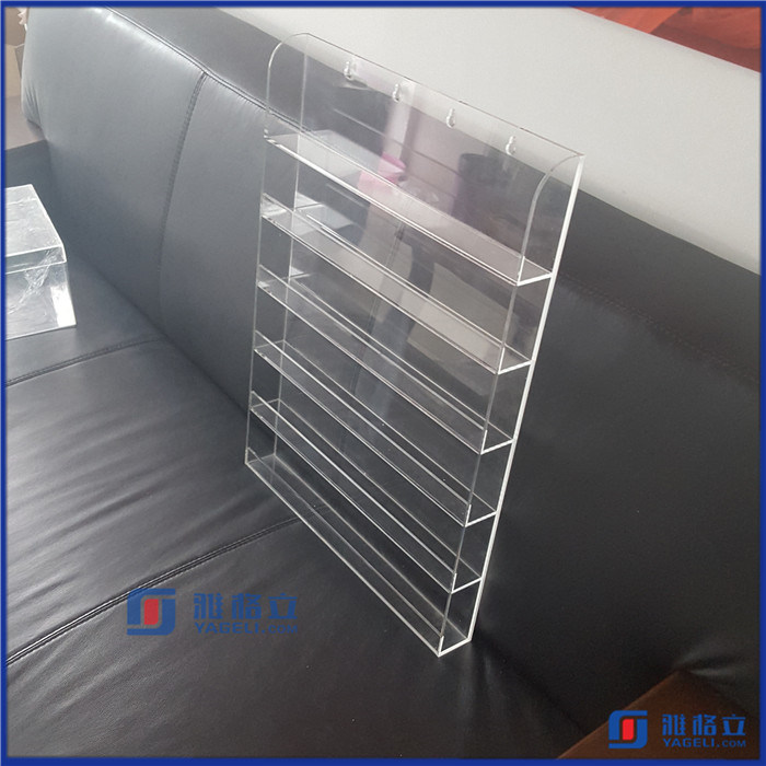 Clear Acrylic Nail Polish Salon Wall Display Storage Rack
