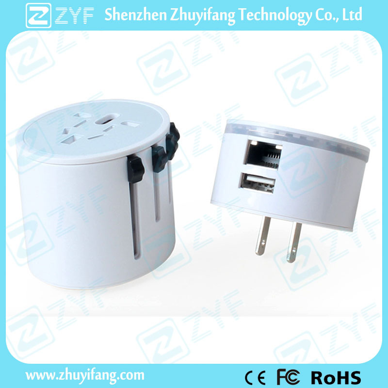 All-in-One 3G WiFi Wireless Travel Adapter with USB Outlet (ZYF9012)