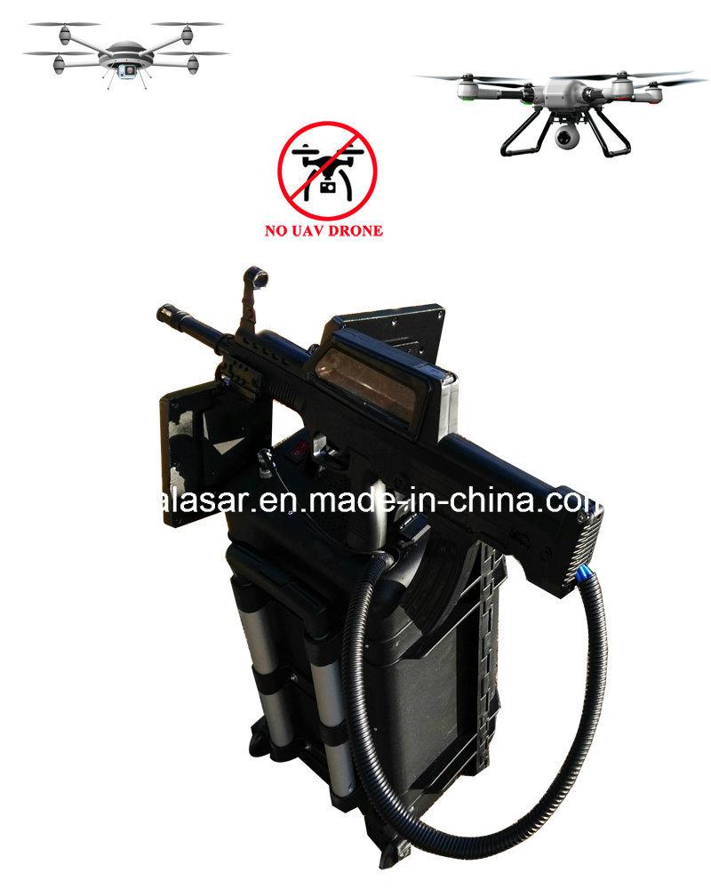 Draw Bar Portable CCTV Radio Jamming System Uav Drone Jammer Blocker