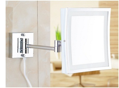 Promotional Square LED Makeup Mirror, Folded European Creative Beauty Mirror