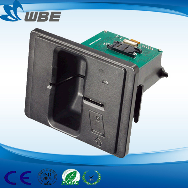 Wbe Manufacture Manual Insert Card Reader for ATM Machine