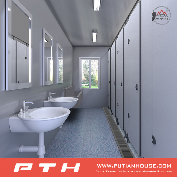 Container Public Toilet Shower Room Project in Gabon