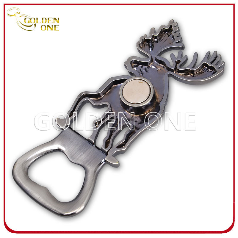 Finland Deer Shape Souvenir Gift Metal Magnetic Bottle Opener