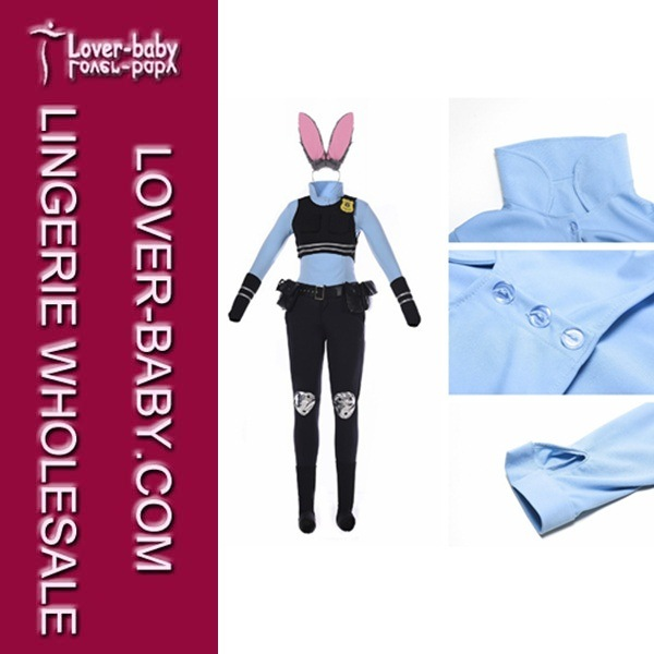 Zootopia Judy Hopps Bunny Mascot Costume for Adults (L15360)