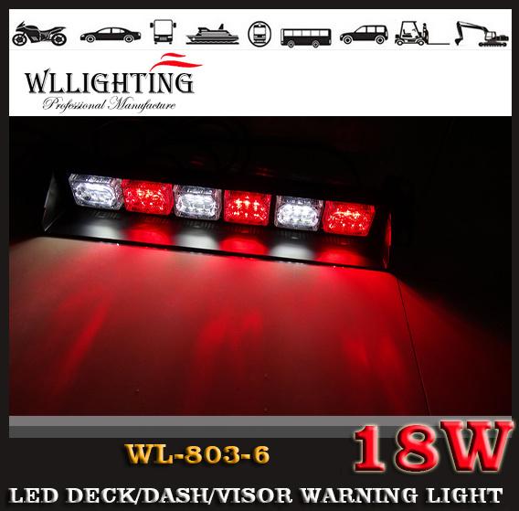 Linear LED Warning Strobe Flash LED Dash Deck Visor Light