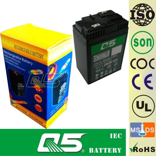 6V4.5AH (Flat) , AGM, UPS, Searchlight, Flashlight, Rechargeable Battery (individually wrapped, Emergency Light)