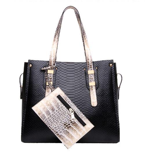 Classics Fashion Bag Crocodile Women Bag 2PCS Set Designer Handbag (XM0218)