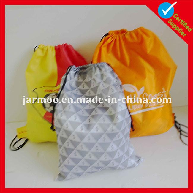 Nylon Gift White Red Waterproof Backpack