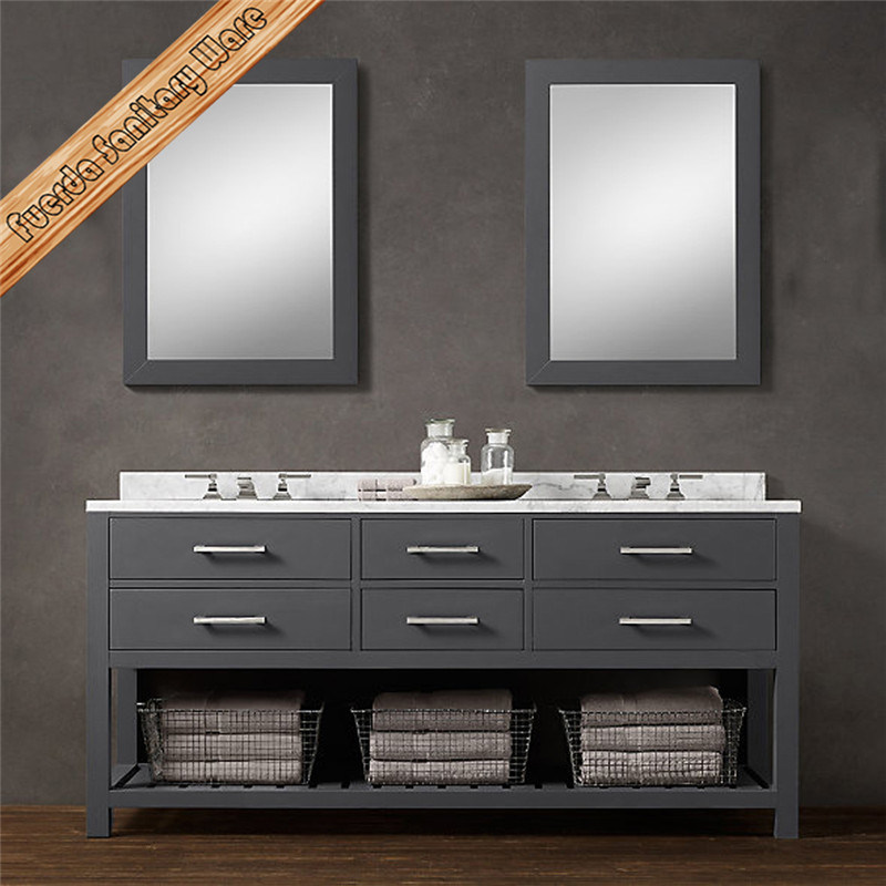 High Quality Customized Furniture Washroom Bathroom Vanity Cabinet with Mirror