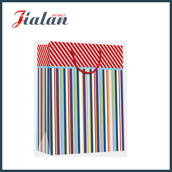 Every Day Series 4c Stripes Printed Shopping Gift Paper Bag