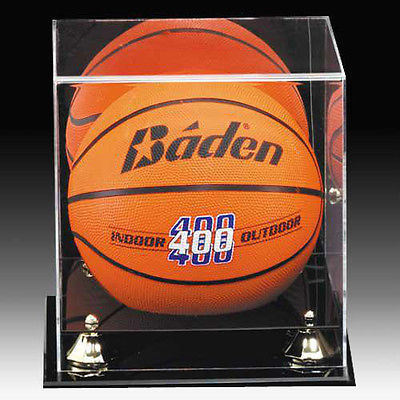 Basketball & Soccer Ball Display Cube, Acrylic Football Display Case - Black Base