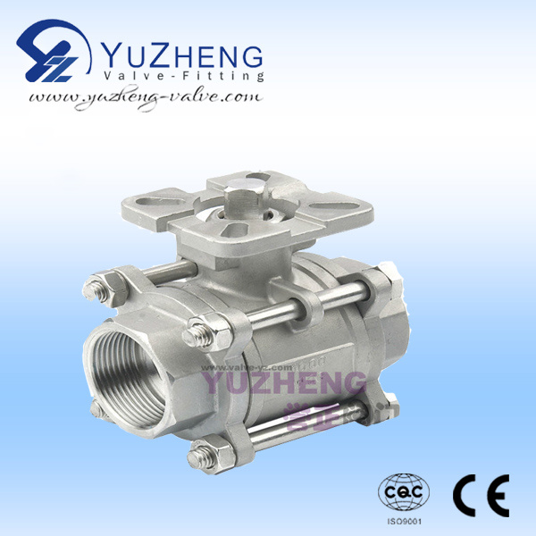 Stainless Steel ISO5211 Pad 3PC Ball Valve (06)