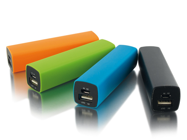 Portable 18650 Li-ion Battery Plastic Power Bank for Promotion Gifts