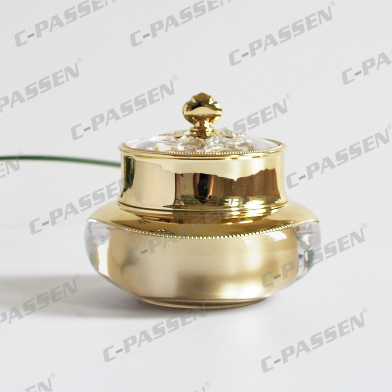30/50g Gold Crown Acrylic Cream Jar for Cosmetic Packaging (PPC-NEW-005)