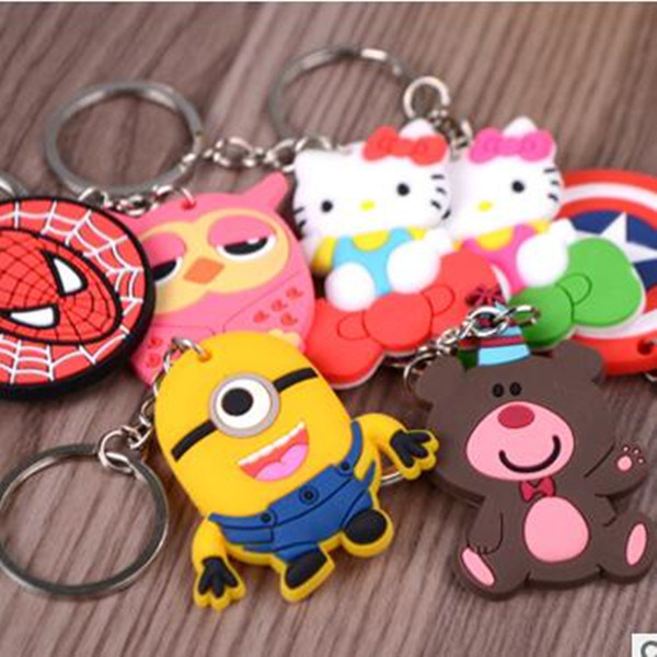 Promotion Gift Hot Sale Cartoon Silicone Rubber Key Chain
