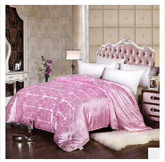 High Quality Beautiful Pure Cotton Jacquard Satin Fabric Kapok Quilt of China